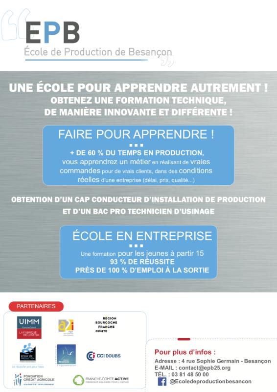 Ecole de production de Besançon